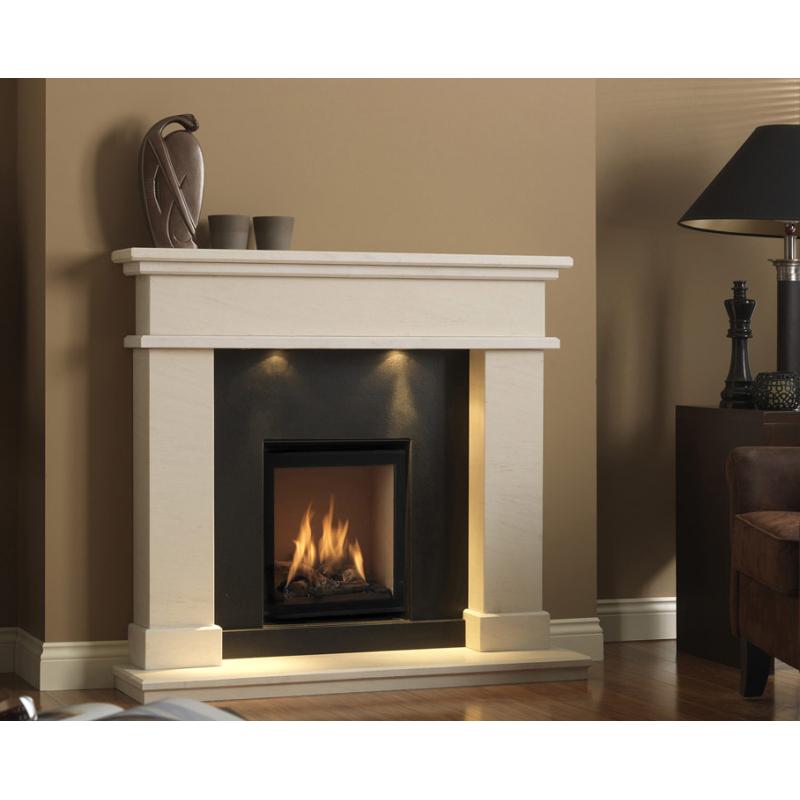 Bellamy Natural Portuguese Limestone Fireplace