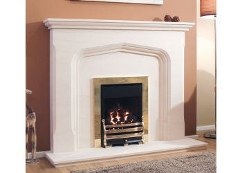 Ripple Gothic Natural Stone Fireplace