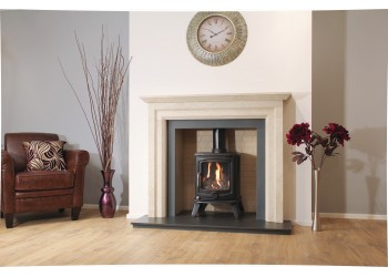 Leverton Natural Stone Fireplace