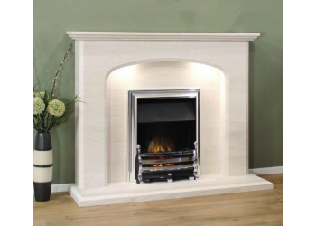 Sienna Natural Portuguese LimeStone Fireplace