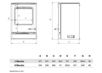 Dimensions of the CL3 Contemporary Gas StovesElectric StoveInset Gas FiresMulti-fuel Boiler StoveMulti-fuel Inset FireMulti-fuel StoveTraditional Gas StovesWood & Multi-fuel StoveWood & Multi-fuel StovesWood Burning StoveWood Multi-fuel & Gas Stoves
